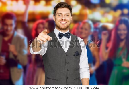 man pointing finger at you over night club party Stock photo © dolgachov
