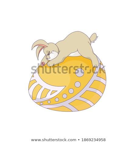 Cartoon Bunny Napping Stock photo © cthoman