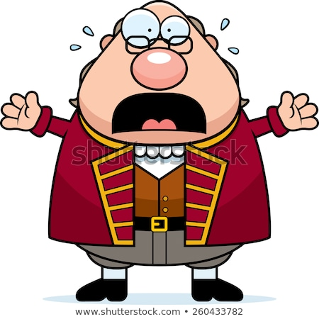 Cartoon Ben Franklin Panicking Stock photo © cthoman