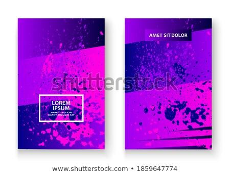 Moderno cartaz vetor agitar-se folheto Foto stock © pikepicture