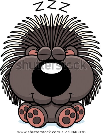 Cartoon Porcupine Napping Stock photo © cthoman