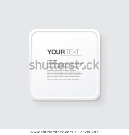 Texto cuadro botón vector diseno aislado Foto stock © kyryloff