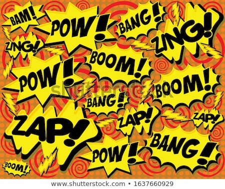 Bright multi colored comic sound effects, seamless pattern Stock photo © Evgeny89