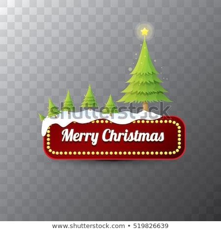 Orange Glossy Merry Christmas Text Design Vector Illustration Stock photo © cidepix