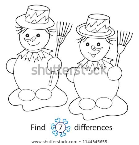 находить различия Рождества Cartoon иллюстрация Сток-фото © izakowski