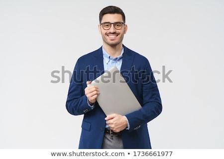 glimlachend · nadenkend · senior · zakenman · portret · kantoor - stockfoto © minervastock