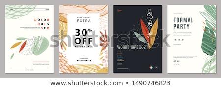 web · poster · ingesteld · aquamarijn · agaat · saffier - stockfoto © robuart