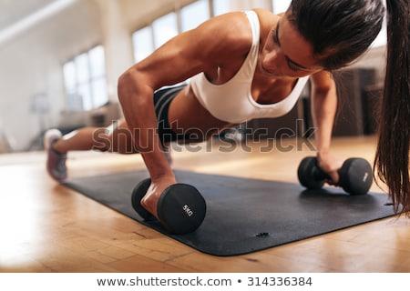 silne · kobieta · pompek · plaży · wody · sportu - zdjęcia stock © boggy