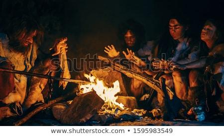 caveman inside the dark cave stock photo © colematt
