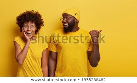 Deux ravi Homme africaine amis permanent Photo stock © deandrobot