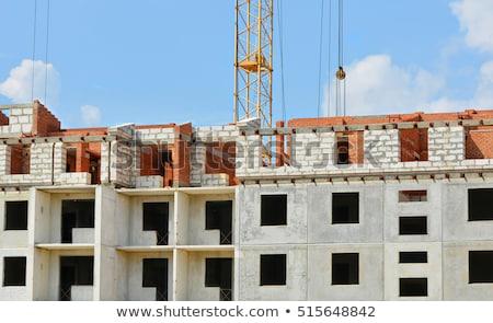 Mooie huis bouw afrikaanse werk industrie Stockfoto © Lopolo