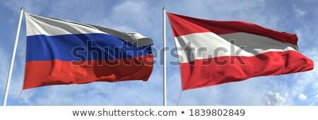 Dos banderas Rusia Austria aislado Foto stock © MikhailMishchenko