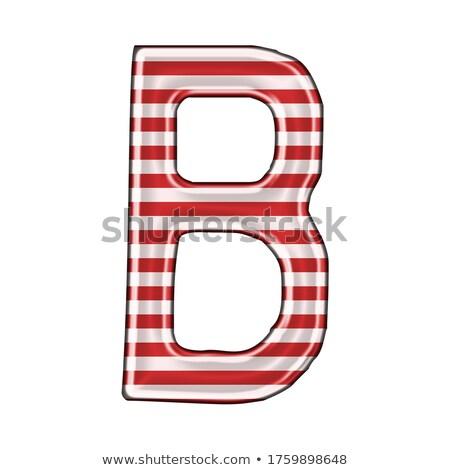 Stock fotó: Fém · piros · vonalak · betűtípus · levél · 3D