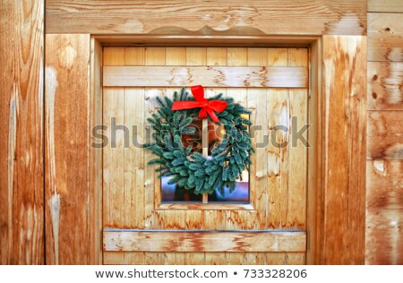 Detail of the traditional Swiss chalet house Stock photo © boggy