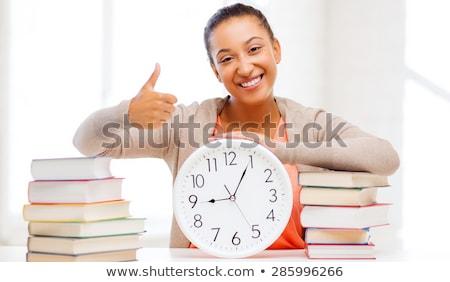 idő · oktatás · óra · közelkép · fehér · piros - stock fotó © dolgachov