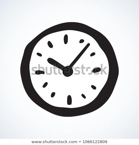 Időzítő óra ikon közelkép izolált vektor Stock fotó © robuart