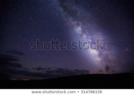 Starry skies over desert landscape Stock photo © lovleah