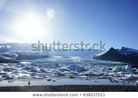 Fjallsarlon lagoon of the glacier Vatnajokull, Iceland  Stock photo © Kotenko