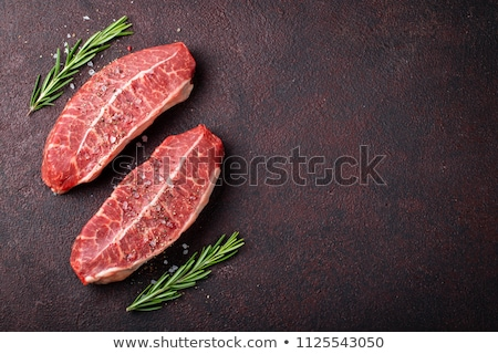 Raw top blade or denver steak Stock photo © karandaev
