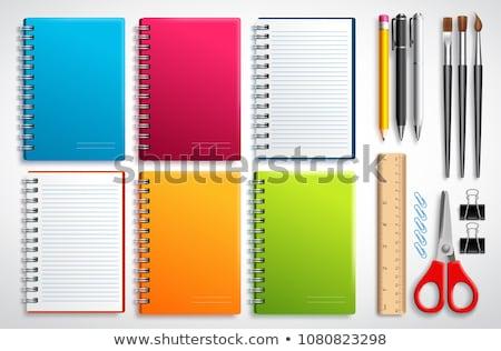 vector set of notebook and pencil stock photo © olllikeballoon