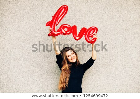 balloon in the shape of the word love outdoors Stock photo © nito