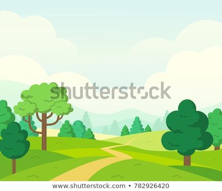 単純な 自然 風景 実例 ツリー 春 ストックフォト © colematt