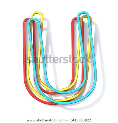 Tres básico color alambre fuente carta Foto stock © djmilic