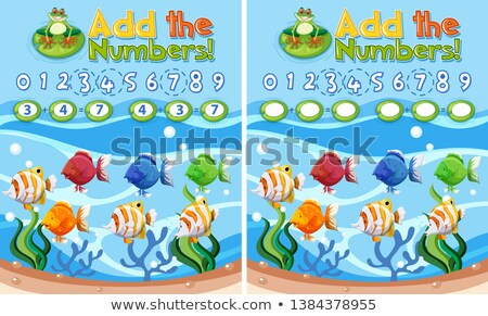 Add the numbers underwater reef Stock photo © bluering