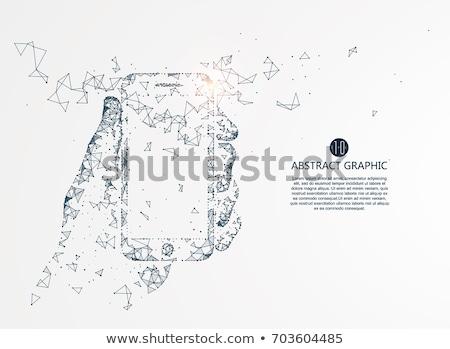 Wolke Technologie Netzwerk isoliert weiß Himmel Stock foto © kyryloff