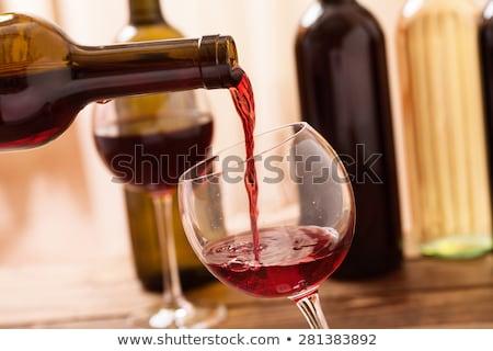 Bor alkoholos ital ital folyadék vektor üveg Stock fotó © robuart