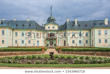 Templom Csehország barokk stílus épület utazás Stock fotó © borisb17