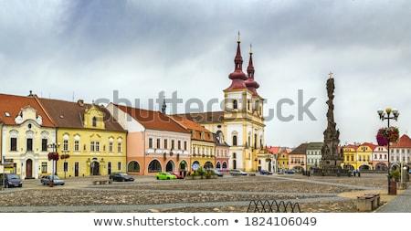 Cross chiesa Repubblica Ceca principale piazza Foto d'archivio © borisb17