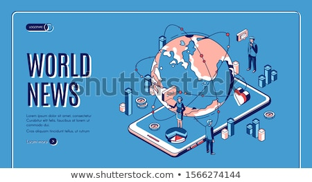 news landing page colorful isometric web banner stock photo © decorwithme