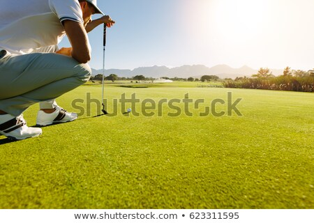 Golf player analyzing green. Stock photo © lichtmeister