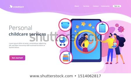 Babysitting services concept landing page Stock photo © RAStudio
