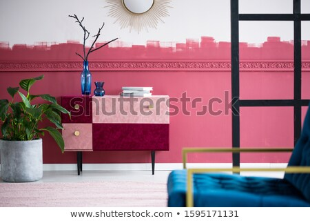 Chest of Drawers with House Plant in Pot on Top Stock photo © robuart