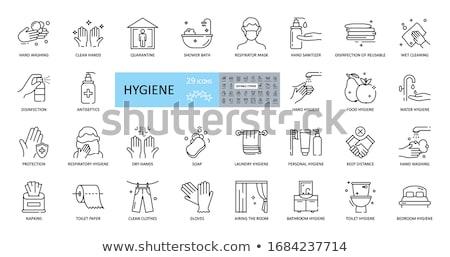 Higiene pessoal elementos ilustração pente sabão escova de dentes Foto stock © lenm