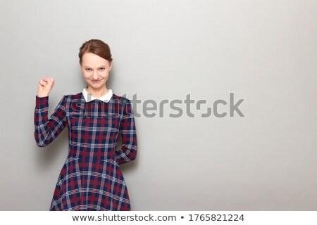 肖像 熱狂的な 幸せな女の子 アップ 興奮した ストックフォト © lichtmeister