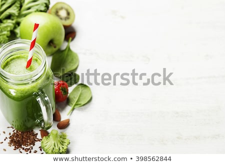 Kiwi appel citroen zaden gezonde Stockfoto © marylooo
