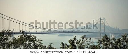 Гонконг моста Панорама закат свет освещение Сток-фото © vichie81