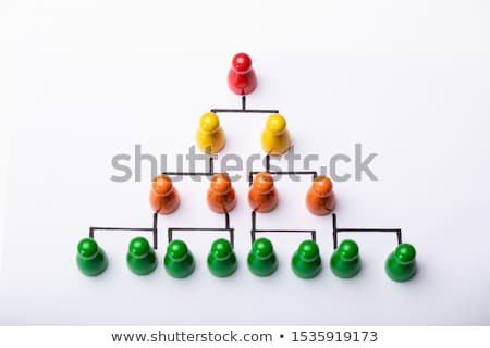 Wooden Pawns Forming Hierarchical Structure Stock photo © AndreyPopov