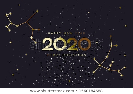 Happy New 2020 Year and Merry Christmas, constellation banner, vector illustration. Stock photo © ikopylov