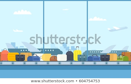 Travel Suitcase on Airport Luggage Carousel Vector Stock photo © robuart