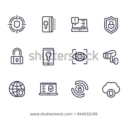 Online sicurezza il malware set Foto d'archivio © soleilc