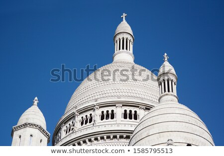 Dome rooftop of the Basilica of the Sacred Heart of Paris Stock photo © sarahdoow