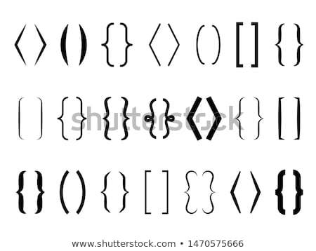 Bracket, braces, parentheses. Typography set of curly brackets Stock photo © FoxysGraphic