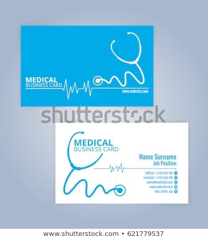 Estetoscópio cartão de visita papel trabalhar médico Foto stock © nomadsoul1