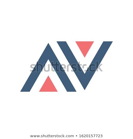 Levél ikon háromszög mértani logo technológia Stock fotó © kyryloff