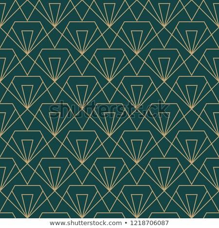 Diamant gesneden goud lijn kunst vector Stockfoto © beaubelle
