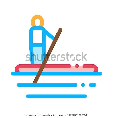 Icon vector dun lijn contour illustratie Stockfoto © pikepicture
